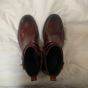 Leather, Ankle Half Boots, Size 9.5, Barely Worn